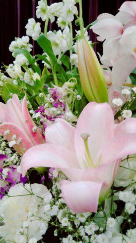 千種区本山斎場 供花