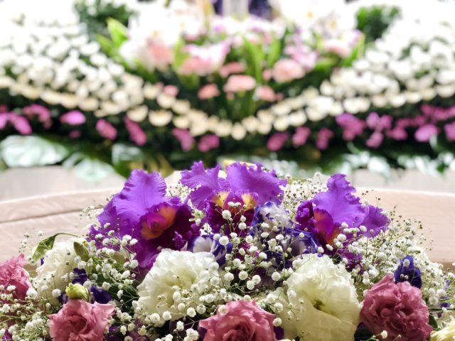 北区 平安会館 名古屋斎場 お花