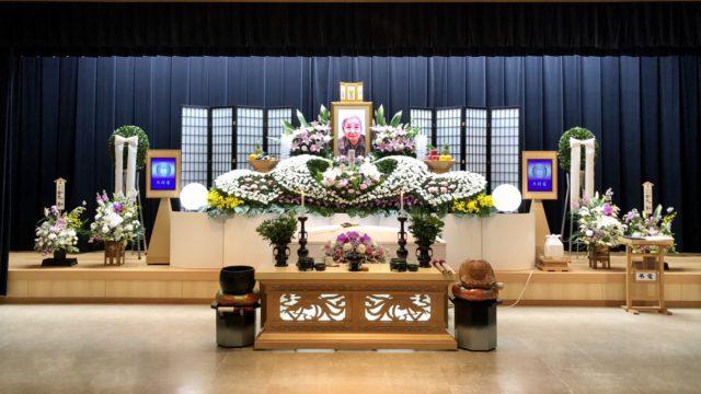北区平安会館 名古屋斎場 祭壇 全景