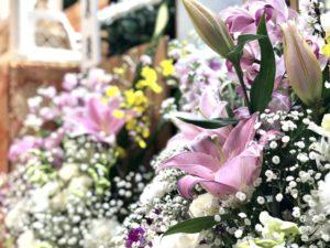 名古屋市北区 平安会館 名古屋市斎場 生花 枕花 お花