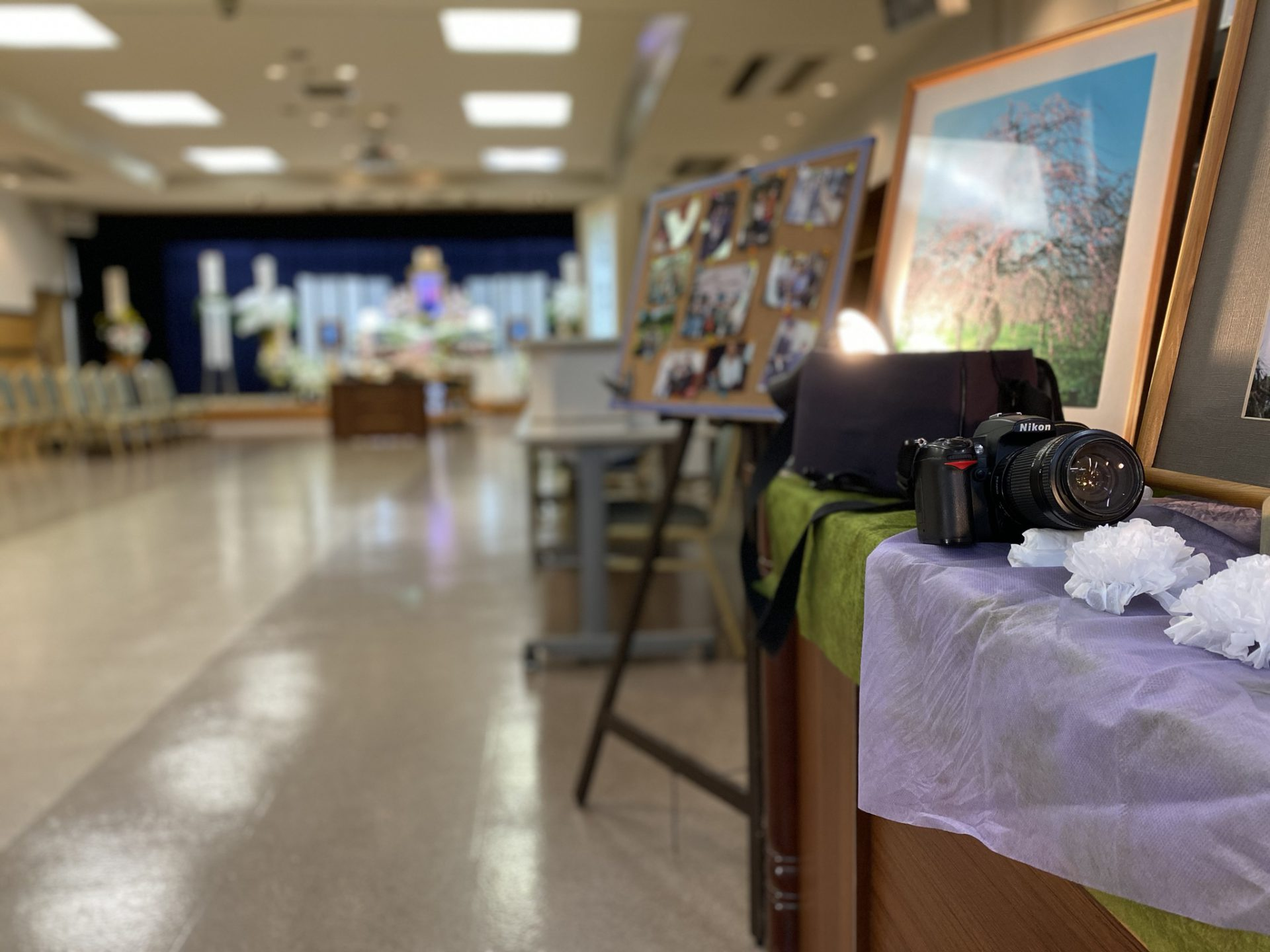 名古屋市西区 平安会館 浄心斎場 故人様が好きだったカメラのお写真