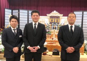 名古屋市守山区 守山斎場 ご家族との写真