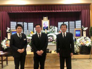 名古屋市守山区 守山斎場 ご家族とスタッフの写真