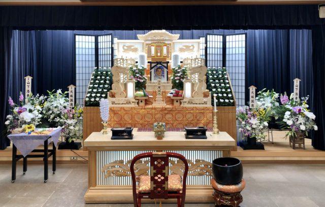 名古屋市北区 名古屋斎場 祭壇 全景