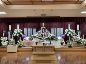 名古屋市南区 笠寺斎場 祭壇全体