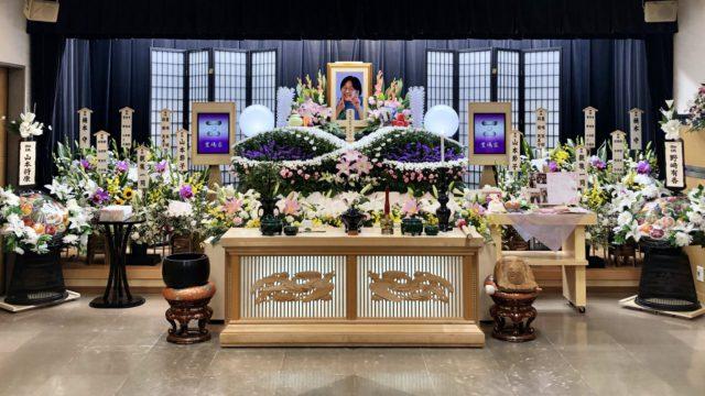 名古屋市北区 平安会館 名古屋斎場 花 祭壇