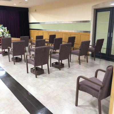 椅子の間隔