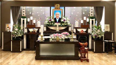 名古屋市中村区 平安会館 家族葬の栞 本陣 祭壇