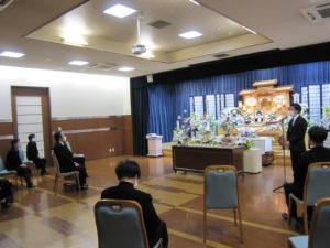 名古屋市緑区 有松斎場 挨拶